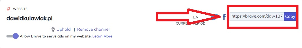 Brave program partnerski uphold Brave - Zarabianie na przeglądarce